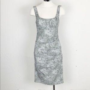 Nicole Miller Black & White Leopard Body Con Dress